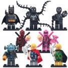 8pcs Deadpool Mister freeze Unworthy Thor Lego Toys Superheroes Minifigure Block Toys