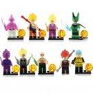 8pcs Majin Buu Son Goku Son Gohan Lego Toys Dragon Ball Anime Theme Minifigure Block Toy