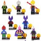 8pcs Android 16 Zamasu Goku Xeno Lego Toys Dragon Ball Anime Theme Minifigure Block Toy