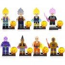 8pcs Gotenks Vogeta Son Goku Lego Toys Dragon Ball Anime Theme Minifigure Block Toy