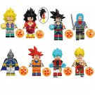 8pcs Gotenks Broly Bardock Lego Toys Dragon Ball Anime Theme Minifigure Block Toy