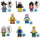 8pcs Krillin Ephesians Trunks Lego Toys Dragon Ball Anime Theme Minifigure Block Toy