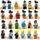 24pcs Krillin Chiaotzu Chi Chi Son Goku Lego Toys Dragon Ball Anime Theme Minifigure Block Toy