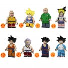 8pcs Krillin Gohan Lunch Lego Toys Dragon Ball Anime Theme Minifigure Block Toy