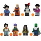 8pcs Android 17 Lunch Colonel Violet Mai Lego Toys Dragon Ball Anime Theme Minifigure Block Toy