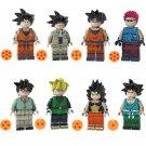 8pcs Raditz Sergeant Metallic Gohan Goku Lego Toys Dragon Ball Anime Theme Minifigure Block Toy