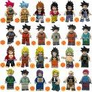 24pcs Raditz Sergeant Metallic Gohan Nappa Lego Toys Dragon Ball Anime Theme Minifigure Block Toy