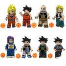 8pcs Zamasu Bardock Turles Nappa Andoid 18 Lego Toys Dragon Ball Anime Theme Minifigure Block Toy