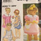Simplicity 8948 Easy to Sew: Toddlers' Dress, Reversible Pinafore or Top, and Panties  Size 1/2 to 4