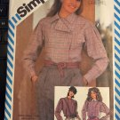 Henry Grethel Designer Loose-Fitting Shirt 1980s Simplicity Pattern 6066 Size 8