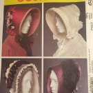 McCalls 5129 Misses Historcial Bonnets Civil War Victorian 1800s Costume Sewing Pattern Size S - L