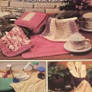 Dishcloths Featuring A Pot  Scrubber Too Leisure Arts 2077 Crochet Pattern 16 Designs