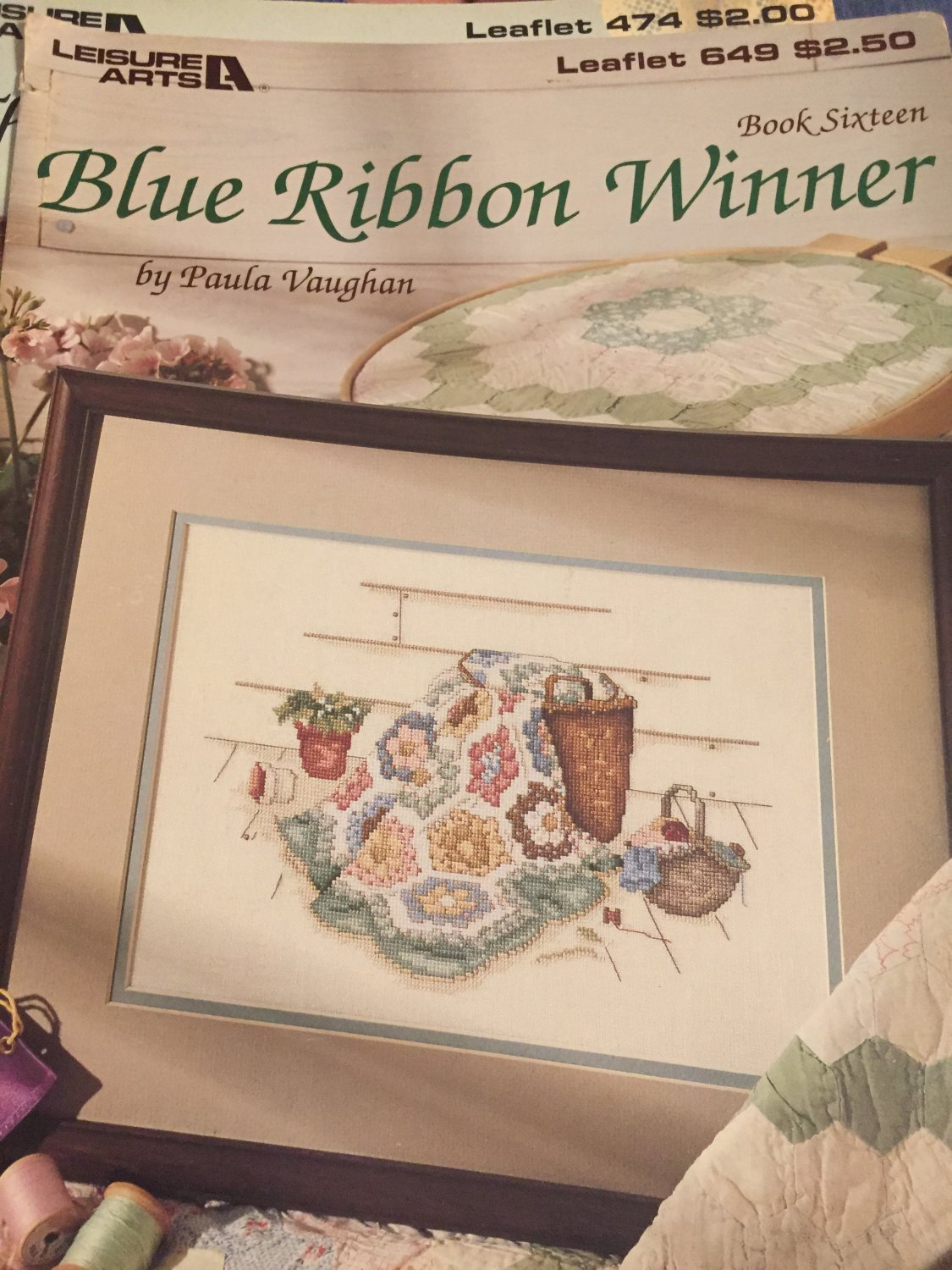 Leisure Arts Blue Ribbon Winner Counted Cross Stitch Leaflet 649  Book 16 by Paula Vaughn