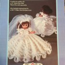 Musical Bride Pillow Doll, Music Box Doll, or Bed Doll Crochet Pattern Fibre Craft FCM232