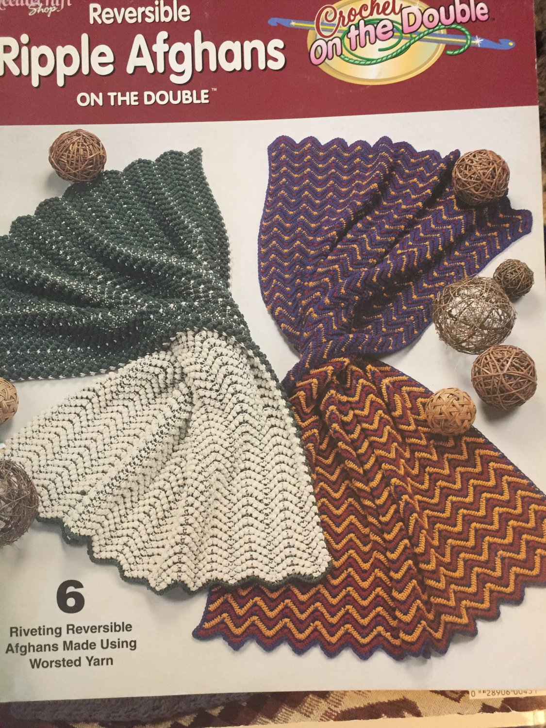 NeedleCraft-Shop 842614 Reversible RIPPLE AFGHANS Crochet On The Double
