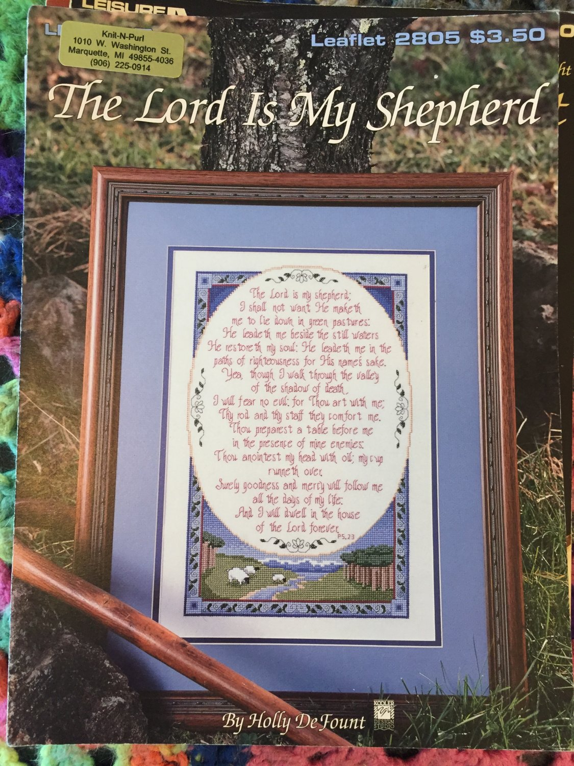 Leisure Arts Lord is my Shepherd Counted Cross Stitch Leaflet 2805
