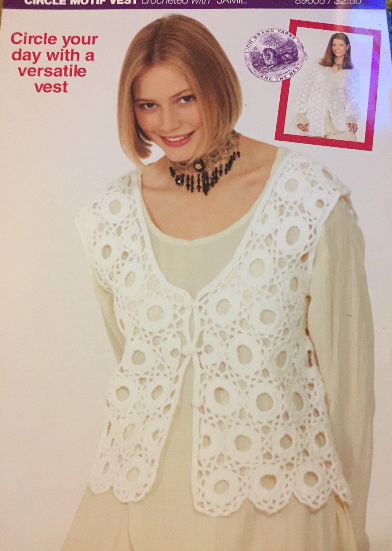 Crochet Pattern for Lacy Jacket & Vest Lion Brand Jamie Yarn