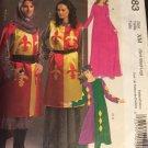 McCalls 5683 Costume Pattern Adult Renaissance or Medieval Dress in Variations  Size XM sml Med Lg