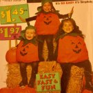 "Children's Pumpkin Costumes Pattern, By Simplicity, Size ""A"" Fits S, M, L, #0652"