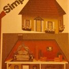 Vintage Simplicity 9821 Fabric Doll House And Furniture Sewing Pattern.