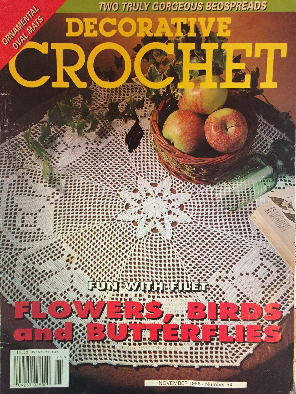 Decorative Crochet Magazine 54 November 1996  Bedspreads Doilies Filet crochet Butterflies Birds