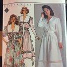 Butterick 3736 1980's Eileen West Blouson Dress Sewing Pattern Size 12-14-16