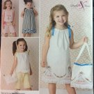 Little Girls Pillowcase Dress Top Capri Shorts Sundress Simplicity 2391 Sewing Pattern  Size 3-8