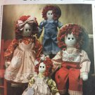 "McCalls Crafts Pattern 3139 Raggedy Dolls Pattern Sizes 16"" and 22"" Dolls"