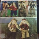 Simplicity 7836 Pattern Bunny + Clothes Baseball Football Fisherman Hunter Safari Aviator Clothes