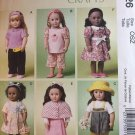 McCalls 6526 Sewing pattern for 18 Inch Doll Clothes- Fits American Girl Dolls