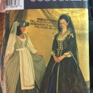 Simplicity 7756 Sewing Pattern Women's Renaissance Costume DRESS & HAT Plus Size 10-12-14 UNCUT