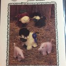 Farmyard Animals Sewing Pattern Best of Show Cow, pig, sheep Tomorrow's Treasures Joanne Burkhart