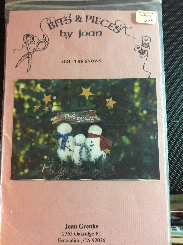The Snows felt snowman pattern by Joan Grenke of Bits & Pieces - felt included #124