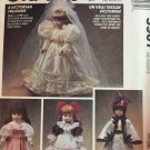"McCalls Crafts Victorian Doll Dresses #5907 Sewing pattern sizes 13"", 14"" and 16"" dolls"