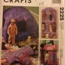 FASHION DOLL TENT Accessories & Organizers McCall's Crafts Pattern 2225