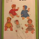 Simplicity 8817 Pattern for Doll Wardrobe Large 17 to 18 In. Doll, Dress, Coat, Romper, From 1978,