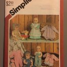"Vintage UNCUT Simplicity Pattern 5615 - Wardrobe for 15"" to 16"" Baby Dolls"