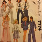 McCall's Pattern 7774 Fashion Doll Clothes Pattern 1980's Karate Lounge Outfits