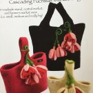 Noni Felted wool Knitting Pattern 114 Cascading Fuchsias Market Bag Nora J Bellows