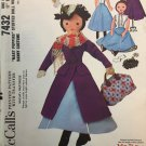 1960's McCall's Mary Poppins Stuffed Doll Sewing Pattern  7432