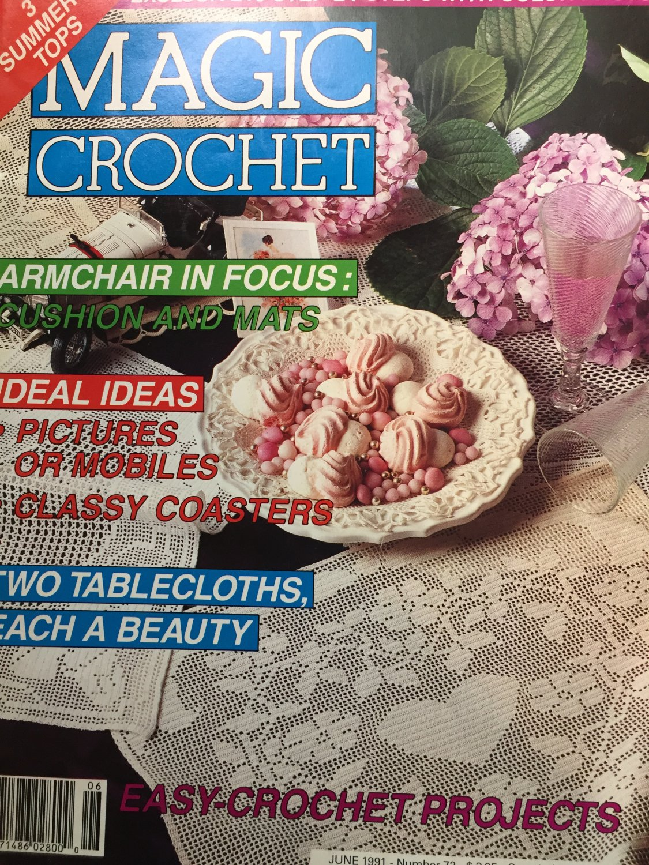 Magic Crochet 72 June  1991 Crochet Patterns Thread Crochet Doilies Fashion Home Decor