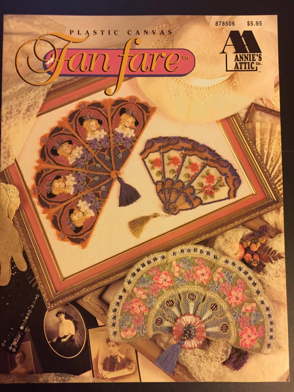 Fan Fare Plastic Canvas Pattern Book Annie's Attic Victorian Fans #878506
