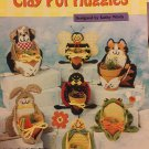Plastic Canvas Pattern Clay Pot Huggies Cat Bee  Bunny Turtle Frog Plant Holder  Needlecraft Shop