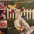 Holiday Goose, Leisure Arts, Pattern Leaflet #1360 5 Festive Doorstops