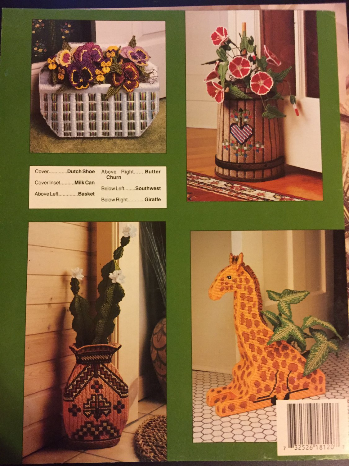 Decorative Doorstops Annie's Attic Plastic Canvas Pattern Leaflet #87R12
