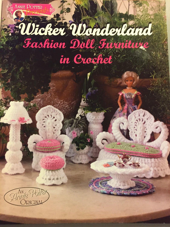 Wicker Wonderland Annie Potter Crochet Fashion Doll Furniture Pattern Booklet