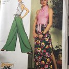 Misses Jiffy Knit Halter Top Pantskirt Simplicity Sewing Pattern 5305 Size 10