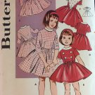 BUTTERICK 9159 Girls Size 2 Dress Pattern Girls Fit and Flare 1960s Girls Dress Toddler Dress
