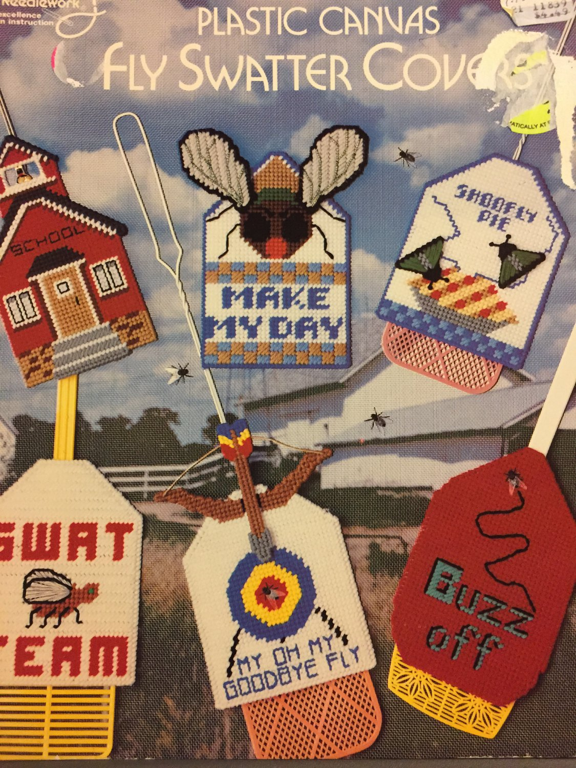 Plastic Canvas Fly Swatter Covers Pattern Booklet American School of Needlework 3074