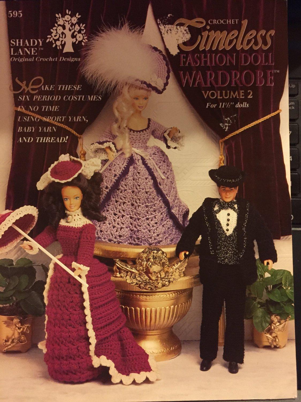 Shady Lane Fashion Doll crochet Timeless Wardrobe Volume 2 Period Costumes 595 Pattern